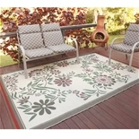 Floral Outdoor Patio Mat