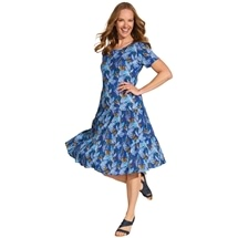 Short Crinkle Cotton Dress