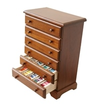 Crafter's 6-Drawer Wooden Thread Cabinet