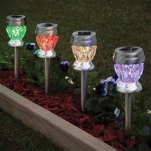 Crystal Look Solar Garden Lights