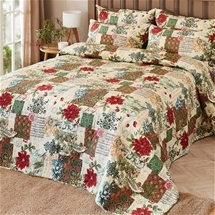 French Poinsettia Bedspread