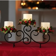 Candelabra with LED candles