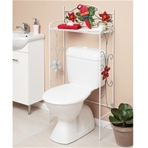 Parrot and Flowers Toilet Rack
