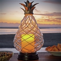 Pineapple LED Candle Lantern