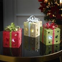 Glowing Gift Box Decorations