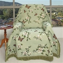 Sage Floral Throw
