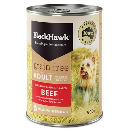 Black Hawk Dog Adult Grain Free Beef Canned