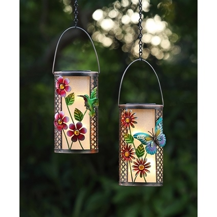 Butterfly and Hummingbird Solar Lanterns