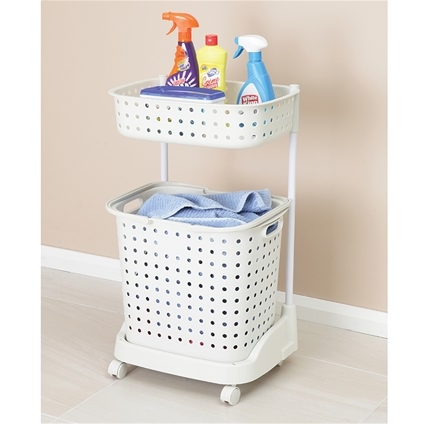 Laundry Basket with Tray