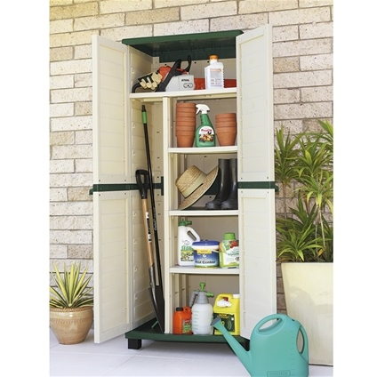 Sentry Shed and Utility Cabinet