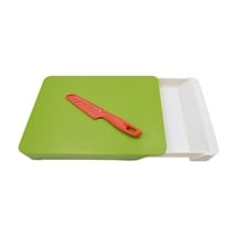Cutting Board With Drawer And Paring Knife