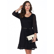 Aspen Zig Zag Lace Dress
