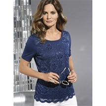 Ornate Lace Short Sleeve