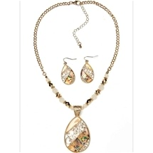 Filligree Necklace & Earring Set