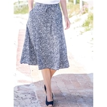 Graphic Flowy Skirt