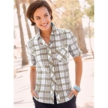 Seersucker Check Blouse