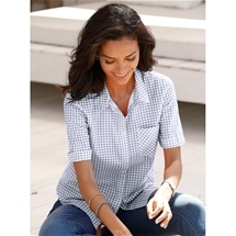 Vichy Check Blouse