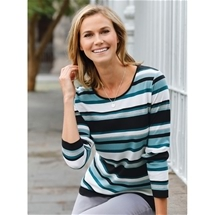 Teal Stripe Tee