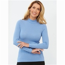 Thermal Jersey Knit Striped Long Sleeve
