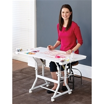 Tilt Top Craft Table White