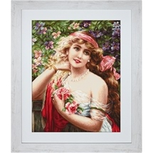 Young Lady with Roses