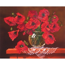 Red Poppies - Diamond Dotz