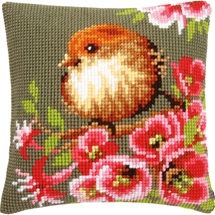 Bird and Blossoms Cushion