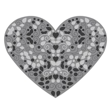 Heart 3D - Cut, Emboss and Deboss Die