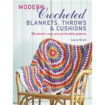 Modern Crocheted Blankets Throws & Pillows