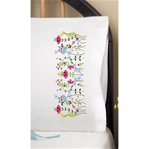 Cats in Flowers Pillowcase Pair