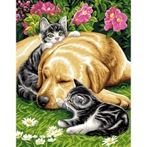 Three Friends Tapestry Canvas