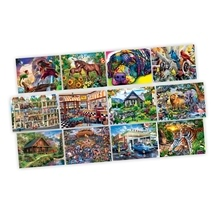 Jigsaw Variety 12 Pack Artist Gallery 100 to 500pc