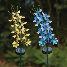 Bee and Dragonfly Solar lights