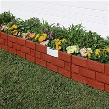 Brick-Effect Border with Solar Light