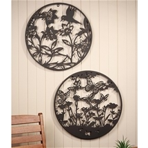 Butterfly and Hummingbird Wall Art