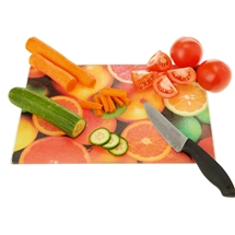 Fruit Design Glass Chopping Board