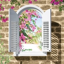 Pretty Country Garden Mirror