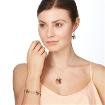Amber Four Leaf Clover Jewellery