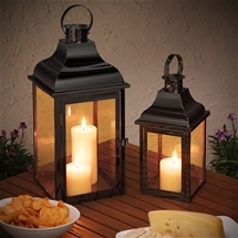 Retro Candle Lantern Set
