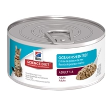 Hill's Science Diet Feline Adult Seafood Cans 156g x 24
