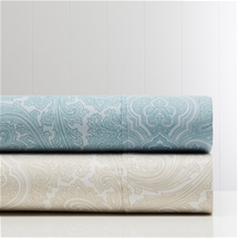 1000TC Printed Cotton Rich Paisley Sheet Set