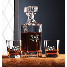 Personalised Square Decanter Set
