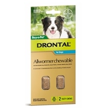 Drontal Dog Chewable Allwormer 2 Pack