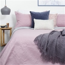 Bambury Embossed Coverlet Set