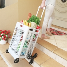 Climbing Foldable Basket Trolley