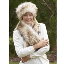 Faux Fur Headband and Scarf