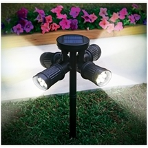 4 Headed Solar Spotlight