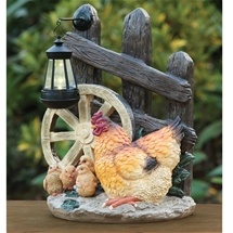 Hen and Chickens Solar Light