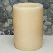 Honeycomb Texture Flameless Candle