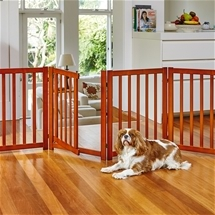 Free-Standing Pet Gate with Door